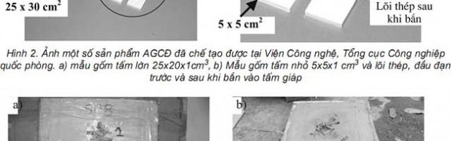 Nghiên cứu chế tạo tấm giáp chống đạn phức hợp gốm ôxit nhôm-compozit kevlar