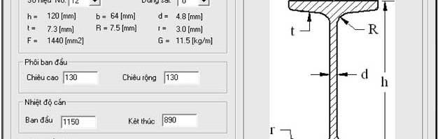 Môđun cán thép I,U của Phần mềm công nghệ cán hình